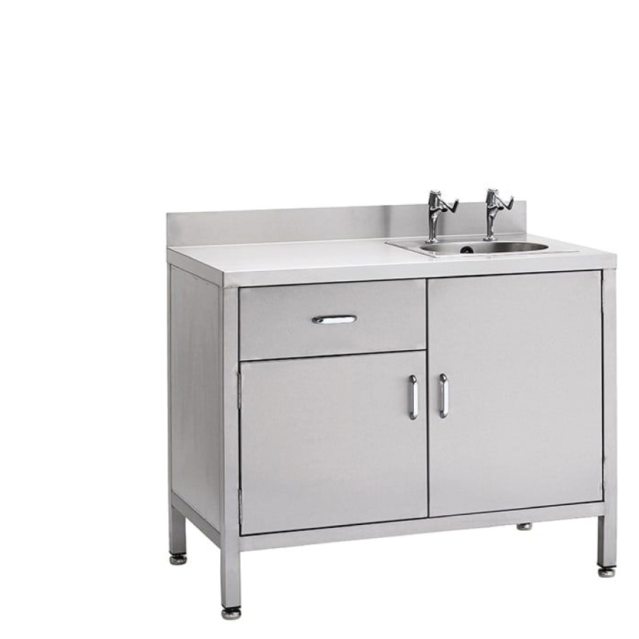 Cupboard with inset sinks