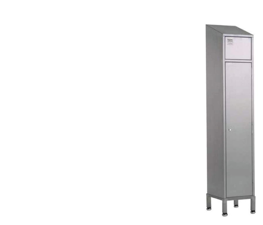 Stainless steel dirty laundry lockers