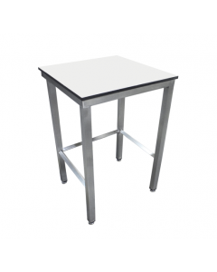 Mobile trespa toplab base workbench top rear tie table with upstand