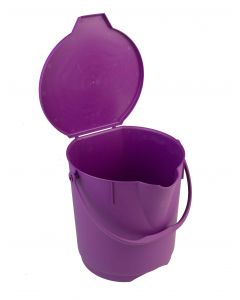 Anti-microbial ultra hygiene plastic buckets with lid