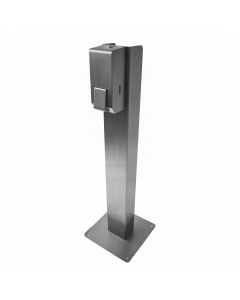 Push operated soap & sanitiser dispenser with free-standing option