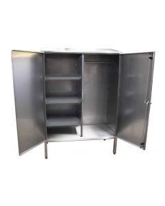 Stainless Steel Cupboard With Garment Rail