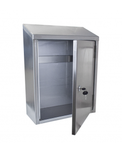 Stainless steel knife storage wall cabinet