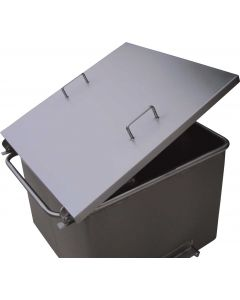 Stainless steel 200 litre euro tub with hinged lockable lid