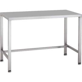 Stainless steel desk with rear rail